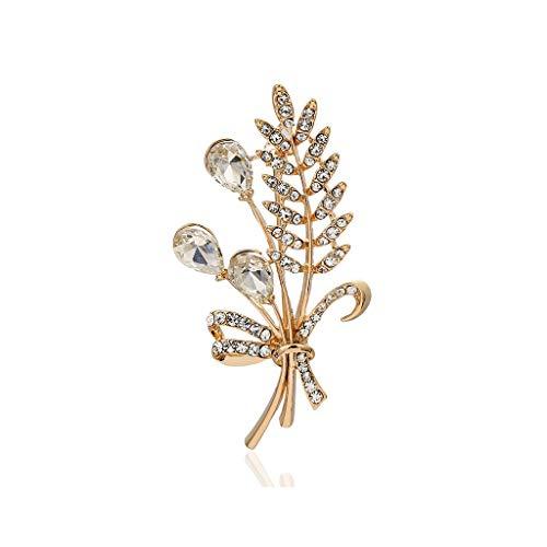 HLD Broche avec Diamant Broche rétro Riz Oreille Broche Lady Sauvage Broche Broche (Color : B)