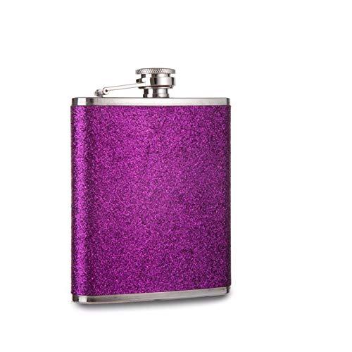 YGLONG Fiaschetta Impianti di flacone della Tasca in Acciaio Inossidabile in Acciaio Inox di Colore Glitterato Fiaschetta Tascabile