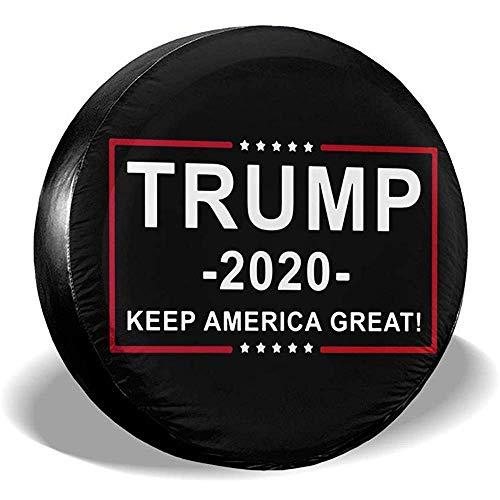 Du-shop Trump 2020 Flag Print Keep America Hervorragende staubdichte, wasserdichte Reifenabdeckung Passform für Reserveradreifen