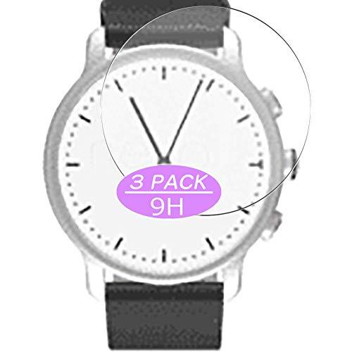 Vaxson 3 Stück 9H Panzerglasfolie, kompatibel mit Nevo watch 40mm Smartwatch Hybrid Watch, Panzerglas Schutzfolie Displayschutzfolie Bildschirmschutz
