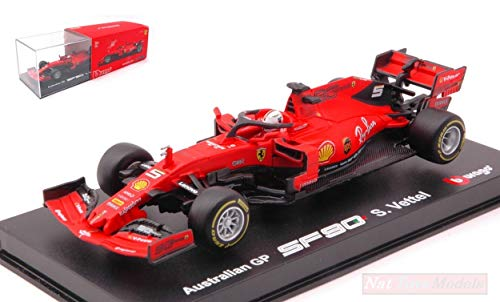 BURAGO BU36814V Ferrari SF90 Sebastian Vettel 2019 N.5 Australian Signature 1:43