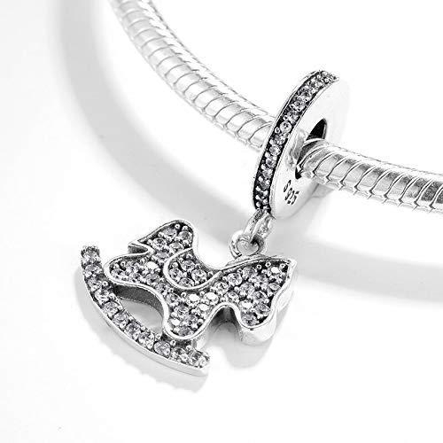 XUBB ZioCz Chaise à Bascule pour Enfants en Argent 925 CZ Perles pour Bijoux Bracelets Charms