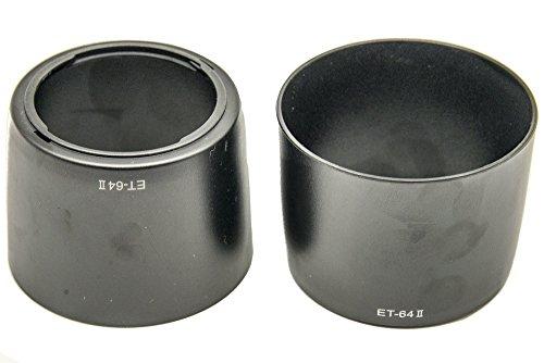 PROtastic ET-64II ET64 II zonnekap voor Canon EF 75-300 mm f/4-5.6 IS USM lens ET64 ET64II, 2 stuks