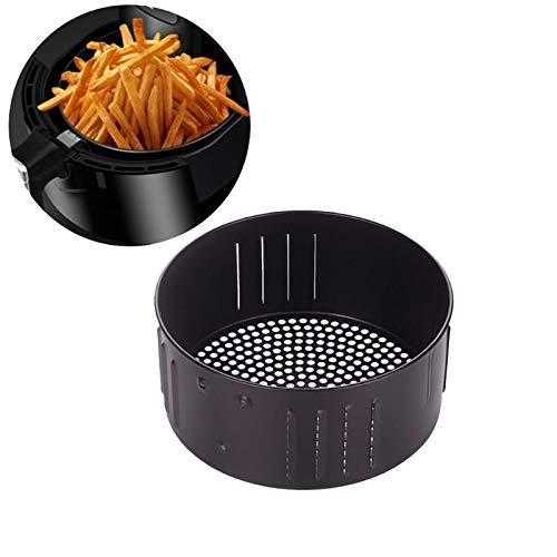 Cesta de repuesto para freidora de aire, bandeja redonda universal antiadherente de hierro fundido, bandeja de horno de cocina para asar la cocina (3,5 L)