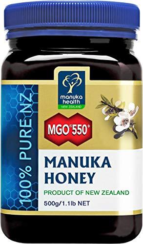 Manuka Health - MGO 550+ Manuka Honey, 100% Pure New Zealand Honey, 1.1 lbs, Yellow