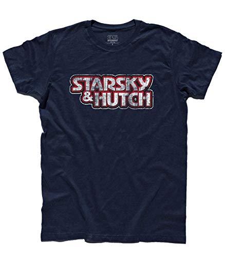 3stylershop T-Shirt für Herren, inspiriert von der Serie Starsky & Hutch, Vintage-Logo, TU0190718-Blu-S, Blau, TU0190718-Blu-S Small