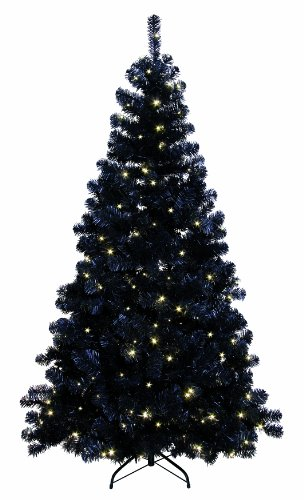 Best Season 608-14 LED Ottawa Prelit-Tree beleuchtet, schwarz