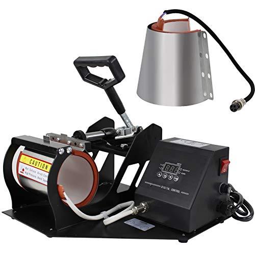 Super Deal Pro 2 in 1 Mug Cup Heat Transfer Sublimation Heat Press Machine W/Two Mug Attachments 11OZ 12OZ