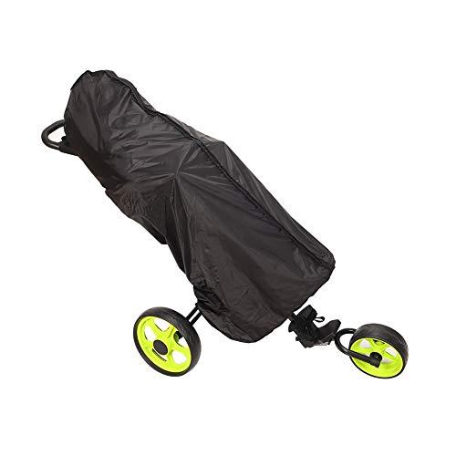 HNYG Regenmantel für Golftaschen, volle Länge, wasserdicht, doppelter Reißverschluss, staubdicht, tragbar, Schwarz