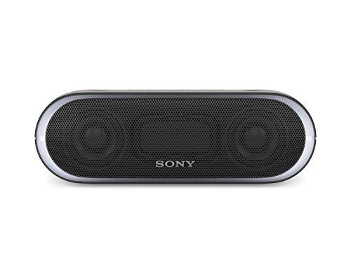 Sony SRS-XB20B - Altavoz inalámbrico portátil (Bluetooth, NFC, Extra Bass, 12h de batería, Wireless Party Chain, luz Lineal) Color Negro