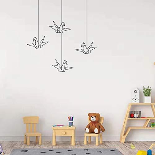 Origami pájaros pared pegatina geométrica papel grúa decoración pegatinas vinilo pájaro volador calcomanías arte habitación hogar pared decoración