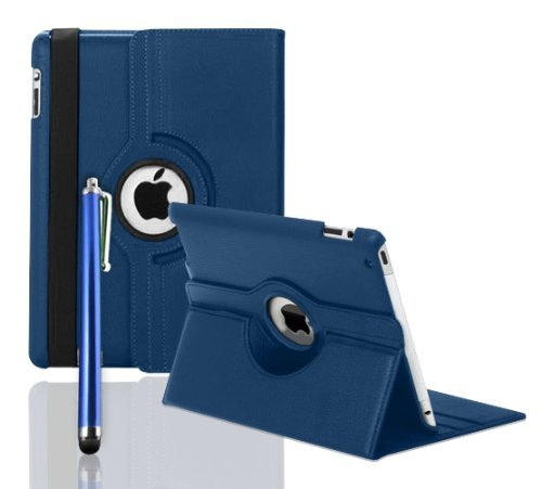 inShang 360 ROTATING FLIP LEATHER CASE COVER FOR THE NEW IPAD MINI (BLUE)