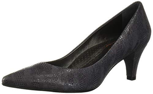 MARC JOSEPH NEW YORK Women's Leather Made in Brazil 2.25 Inch Heel Point Pump, Grey Glaze, 9 M US