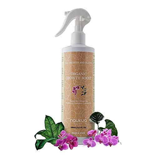 naukua 500ml Abono Líquido Orgánico para Orquídeas - Mayor Vitalidad y Floración - Estimulador Crecimiento y Bioestimulante - Interior y Exterior - Spray Listo para Usar