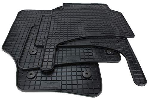 Kfzpremiumteile24 Gummimatten Kompatibel mit Cayenne 9PA Baujahr 2002-2010 mit Touareg 7L Premium Fußmatten Allwetter Schwarz