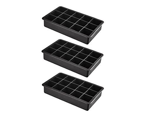 Pack de 15 moules à glaçons en silicone taille imposante glaçons glaçons xXL 3 x 3 x 3 cm