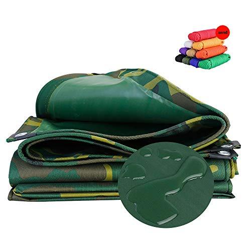 Voile d'ombrage HUAHUA Épaissie PVC Étanche Bâche, 100% Coupe-Vent Et Crème Solaire Anti-UV, Patio Extérieur Voiture Jardinage Camping Camouflage Tente, 19 Tailles (Size : 6x6m)