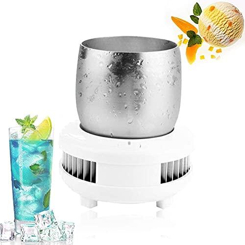 X&J Máquina de refrigeración electrónica rápida portátil para bebidas frías, taza de escritorio, botella de cerveza, vino, cerveza, enfriador de bebidas, D (color: C)