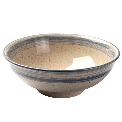 Large Ramen Noodle Bowl Chinese Style Ceramic Old Fashioned Tableware Fruit Salad Vegetable Bowl Serve Mixing Bowl