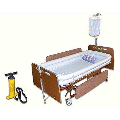 LSZZ Opblaasbare Draagbare Badkuip, Bad in Bed Hulpmiddel met Inflator+Douchezak+Opblaasbaar Kussen voor Bedlegerige Patiënt Gemakkelijk Bad in Bed