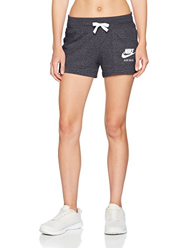 Nike 883733 060 Pantalones Cortos, Mujer, Gris (Anthracite/Sail), L
