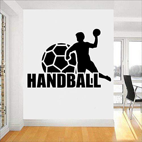 63x43cm DIY benutzerdefinierte Name und Farbe 3D Handball Wandtattoo Ball Sport Künstler Home Dekoration Junge Spielzimmer Vinyl Kindergarten Innenwand Aufkleber Fitnessraum