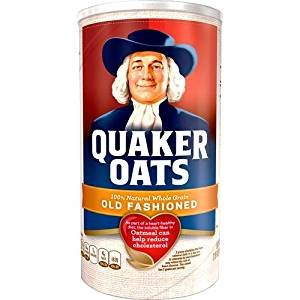 Quaker Oats 100% Natural Whole Grain 42 Oz. Pack Of 3.