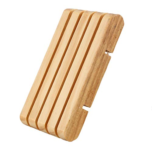 NEYOANN Caja de jabón de ducha de madera para el hogar, bandeja de goteo