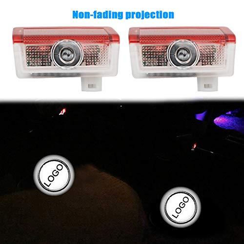 xy para 2 unids para Mercedes Benz C Clase W205 AMG LED Puerta de Coche Logo Proyector láser Luz de Estilo Logotipo Accesorios de luz Compatible con (Emitting Color : 1)