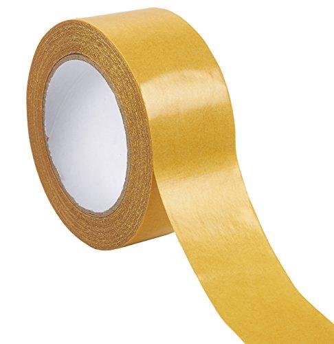Heavy Duty Doppelseitiges Klebeband–Teppich Tape, rutschsicheren Klebeband Teppich Greifer selbstklebend für Bereich Teppiche, Hartholz, Fliesen, innen-, und Böden, beidseitigen, 2Zoll x 49-feet