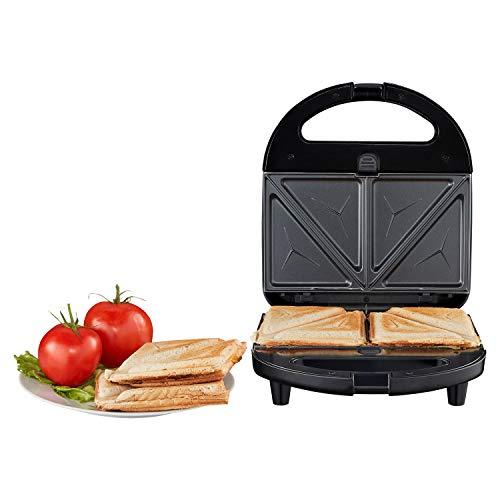 MEDION 3 in 1 Sandwichmaker mit Wechselplatten (Sandwich, Waffel oder Panini, antihaftbeschichtete Wechselplatten, max. 750 Watt, wärmeisolierter Griff, MD 19788)