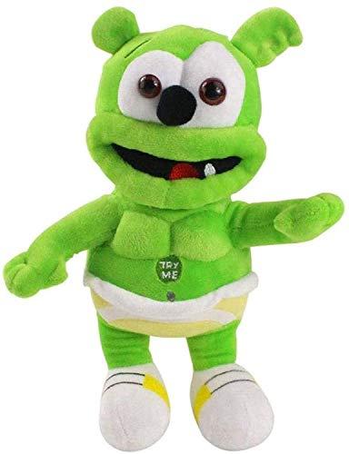 HEZHANG 30 cm Gummy Bear Peluche Muñeca Música Bear Toy Soft Baby Acompañamiento Dibujos Animados Puppet Cumpleaños Regalo para Niños
