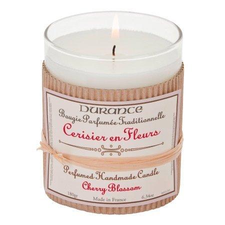 DURANCE Bougie Parfum Cerisier en Fleurs