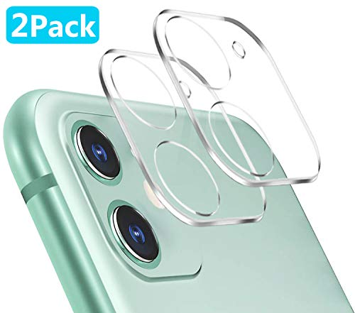 Tamoria 3D Oneness iPhone 11 Camera Lens Protector [2 Pack] HD Clear 9H Tempered Glass Anti-Scratch Anti-Fingerprints No Bubbles Smooth Touch iPhone 11 Accessories Case Friendly