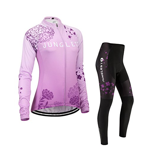 (Cojín 3D)(traje(Forro polar) tamaño:M) mujer sudo ropa rompevientos maillot chaleco ciclismo larga...