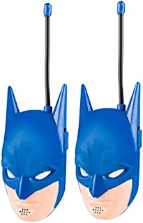 Batman WT2-01082 Molded Walkie Talkie Flexible Saftey Antenna Power on and Off with a Flick of a Switch, Pack of 2, Transmission, Stylish Appearance, Pack of 2, Blue
