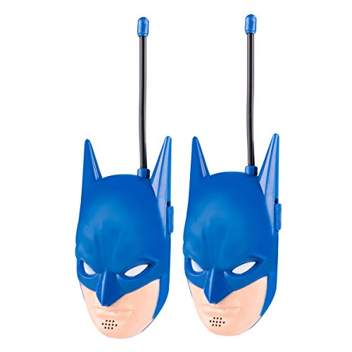 Batman Molded Walkie Talkies for Kids WT2-01082   Safe and Flexible Antenna, 1000ft Range, Easy-to-Use Power Switch, Belt Clip, Pack of 2, Stylish Appearance, 2-Pack