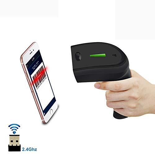 Lettore di codici a barre USB portatile 1D QR 2D Barcode Scanner per codici a barre digitali/stampati Compatto, distanza di trasferimento 30-100 metri, spazio di archiviazione 16M,1dwired