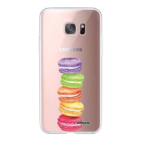 Evetane – Carcasa para Samsung Galaxy S7 Edge 360 Integral – Carcasa Delantera Trasera Resistente – Protección sólida – Funda Transparente – Diseño Moderno
