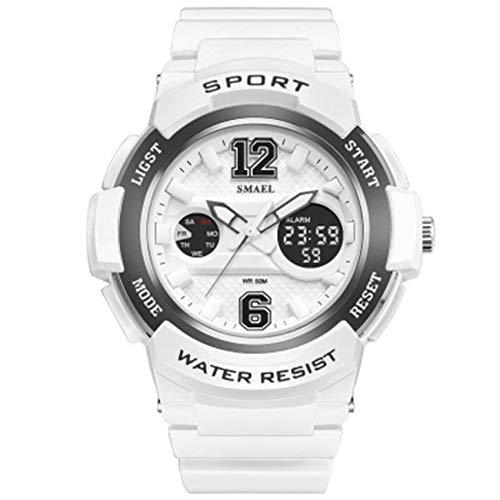 W.zz Reloj Deportivo para Hombre, Multifuncional, Resistente Al Agua, Diseño Simple, Números Grandes, Pantalla LCD Digital, Relojes Electrónicos,D