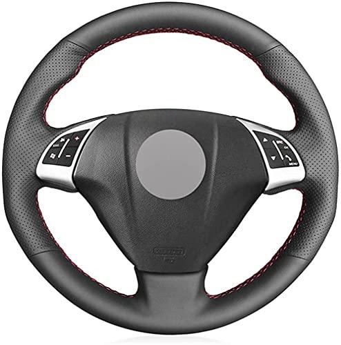LIUJTAO - Funda de cuero para volante de coche, cosida a mano, para Fiat Punto Bravo Linea 2007-2019 Qubo Doblo 2008-2015 Grande Punto-Blue_Thread
