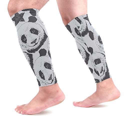 Sdltkhy Cute Panda Sports Calf Support Sleeves para el Alivio del Dolor Muscular, compresión de circulación Mejorada Soporte Efectivo para Correr, Trotar, Entrenar, recuperación (1 par)
