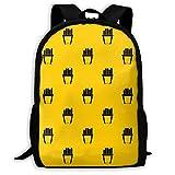 Travel Bag,Portion Of French Fries Bookbag Gym Casual Rucksack 32cm(W) x42cm(H)