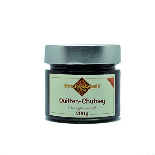 Streuobstwiesle Quitten Chutney 200 g Herzhafte, aromatische Sauce zum Grillen, zum Fondue, zum Raclette, zum Kase, zum Reis... …