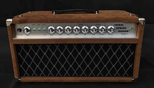 Grand Steel Stringer Singer Handwired Guitar Amplifier Head SSS50 with Brown Tolex Customized Faceplate is OK 50W