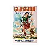 Vintage-Reise-Poster Glasgow, Vintage-Reiseposter, Tanzen,