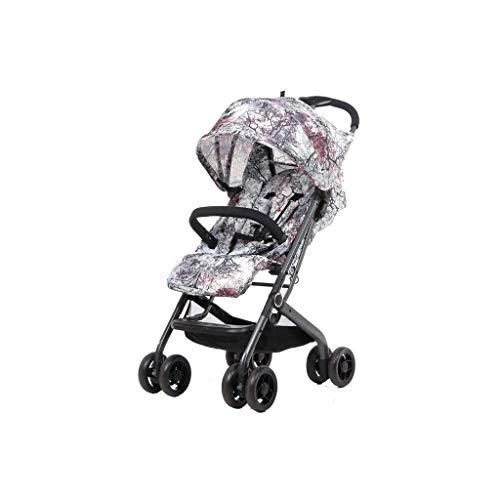 ZXCVB Stilvolle Kinderwagen, Kinderwagen mit Tablett, tragbaren Ultra-Light-Taschen-Auto, Can Hinlegen oder Sit Down