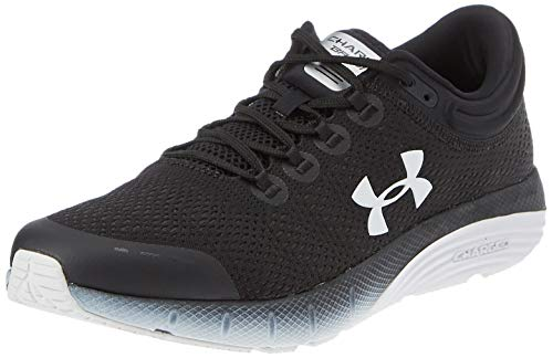 Under Armour Men's Charged Bandit 5 Running Shoe, Black (001)/White, 10