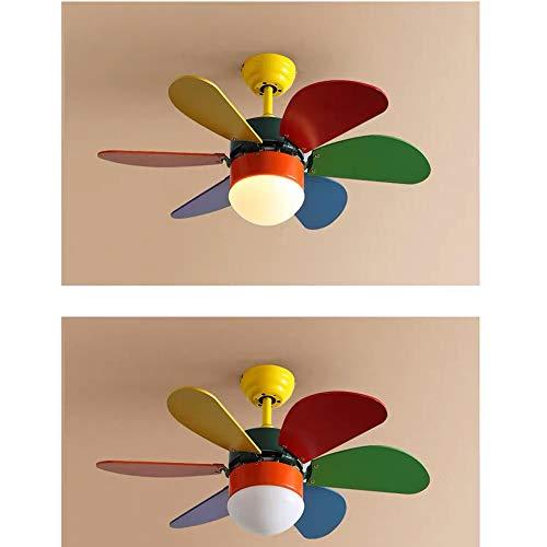 Luce Plafoniera Luz de ventilador Luz de ventilador de techo Habitación de niños Lámpara de comedor Dormitorio creativo Lámpara de ventilador eléctrica simple