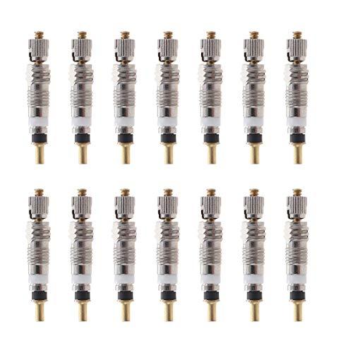 VORCOOL Núcleo de válvula, Pieza de núcleo de vástago de válvula de neumático de reemplazo de 12 Piezas para neumático para MTB Road de Tubeless Works